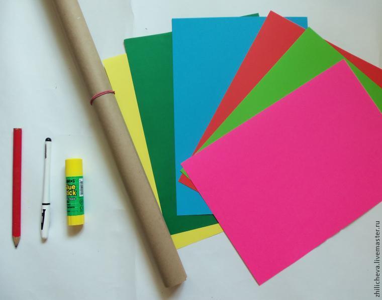Как сделать картон цветной