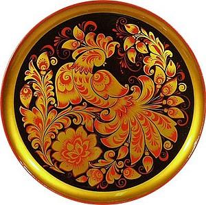 золотая хохлома, роспись украшений