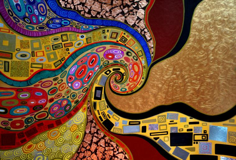 картина климт, абстракция