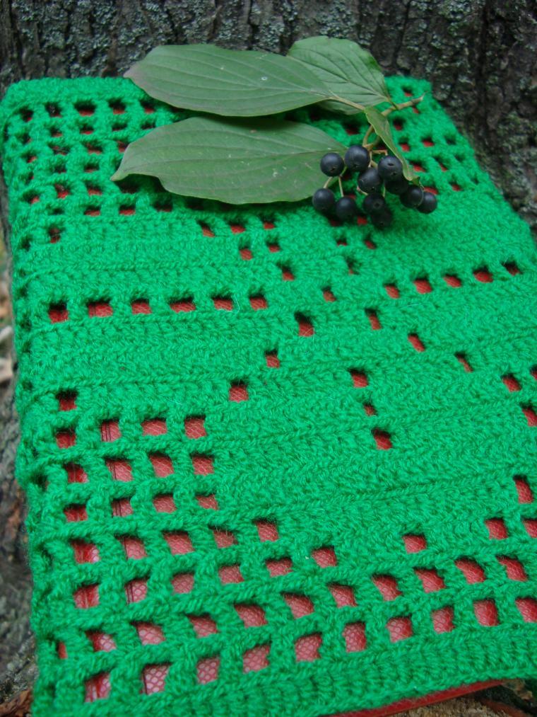 ручное вязание, новый товар, обложка на блокнот, зеланая обложка, минбон