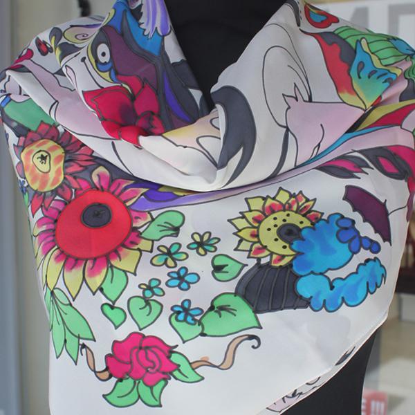 шелковый платок, подарок