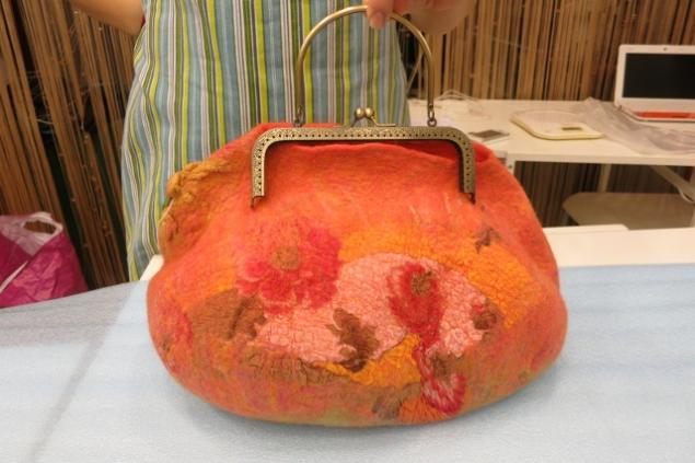 Фотоотчет по валянию сумки с мастером Ириной Бобковой., фото № 31