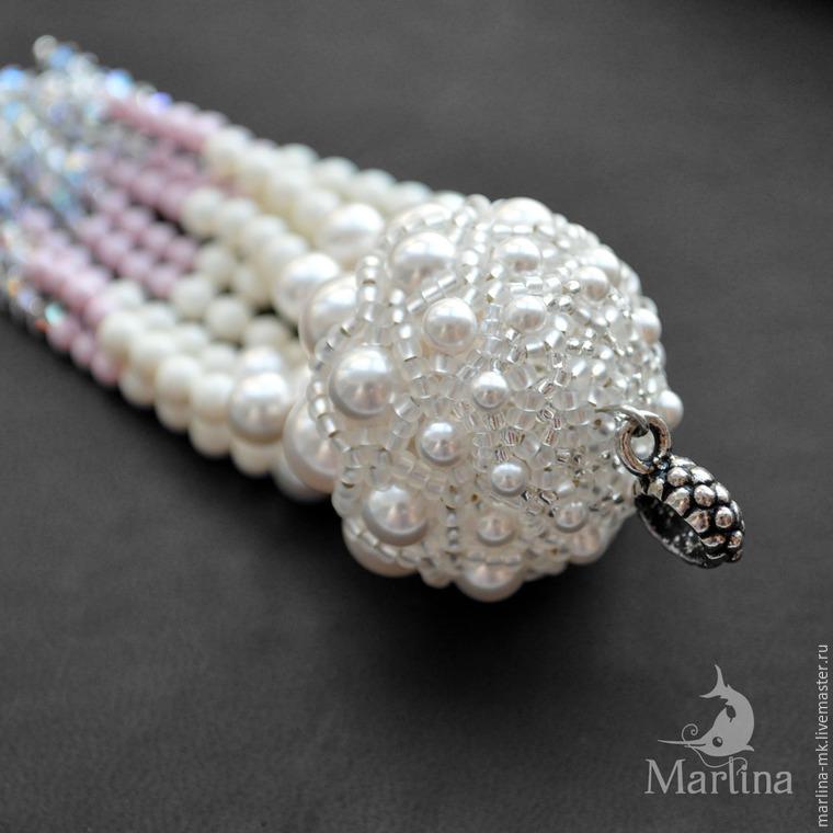 Jellyfish Pendant DIY with Pearls and Swarovski Crystals, фото № 38