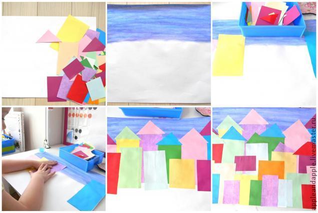Night City Paper Craft with Children, фото № 1