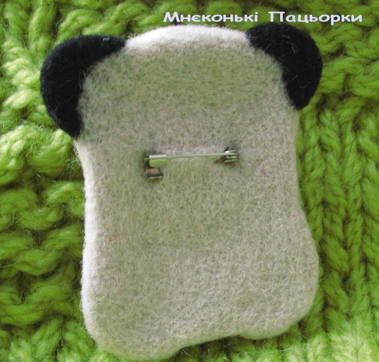 мопсик, брошка из шерсти, украшения ручной работы