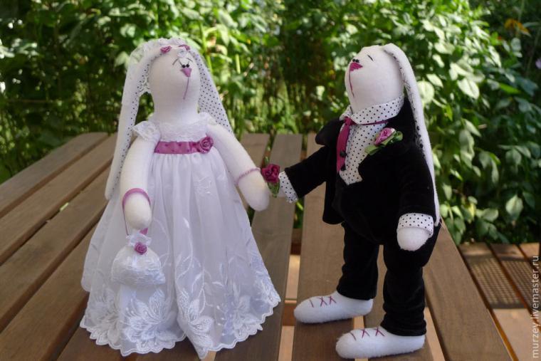 Свадебные фото с зайцами тильда