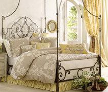 Шторы прованс в интерьере спальни