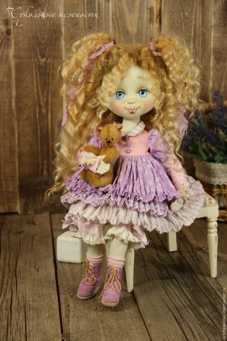 сделать лицо кукле, как сшить куклу, кукла текстильная, авторская кукла