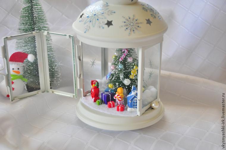 Прикрашаємо новорічний ліхтарик
