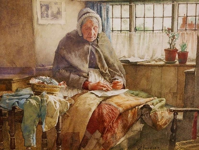 Walter Langley (British, 1852 – 1922) At Evening Time it Shall be Light (700x528, 326Kb)
