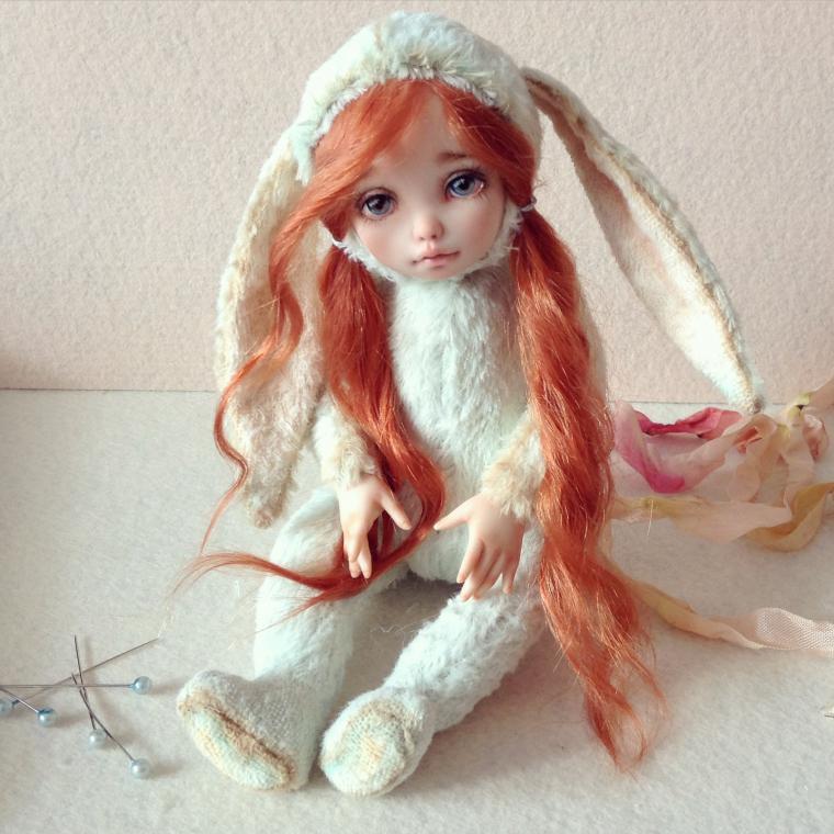 Элизабет. Тедди-долл зайка. / Авторские куклы (ООАК) / Шопик. Продать купить куклу / Бэйбики. Куклы фото. Одежда для кукол