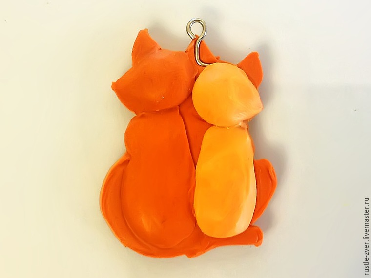 Modeling A Pendant Foxes in Love, фото № 9