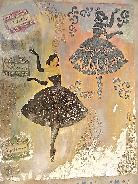 балерина, движение, балерина на холсте, мк по декупажу
