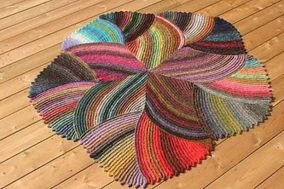 Сделать коврик своими руками вязаный