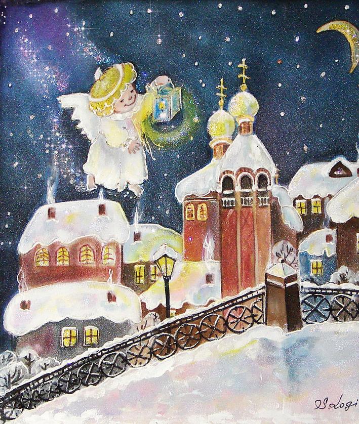 Картинки на рождество и новый год которые дети смогут нарисовать