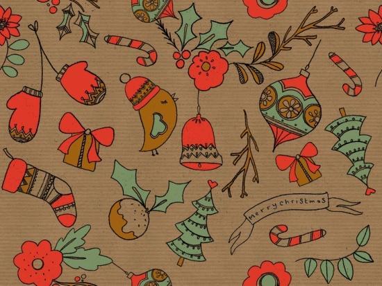 Праздничная подборка новогодних принтов, фото № 12
