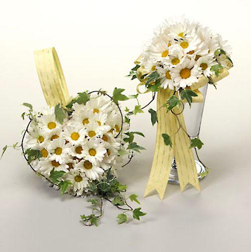 Креативный букет из ромашек, цветы женщине спб