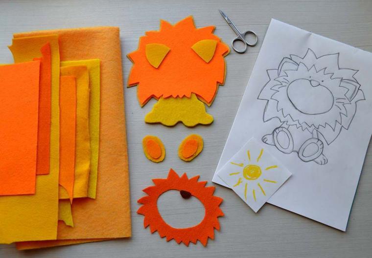 рамочка, из фетра, для детей, оранжевый, подарок своими руками, подарок мальчику