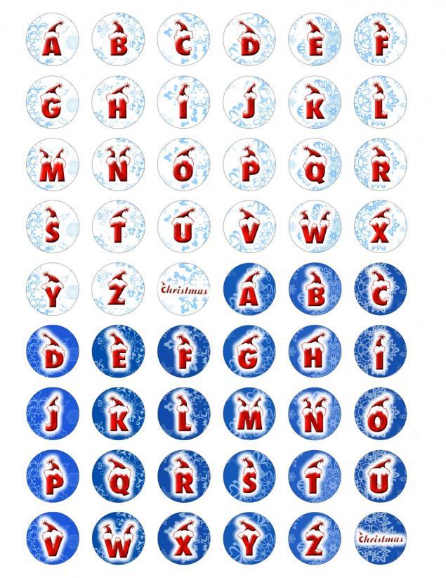 новый год, буквы, винтажные открытки