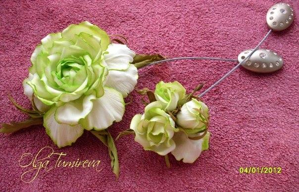 Цветы из фоамирана своими руками пошаговое фото