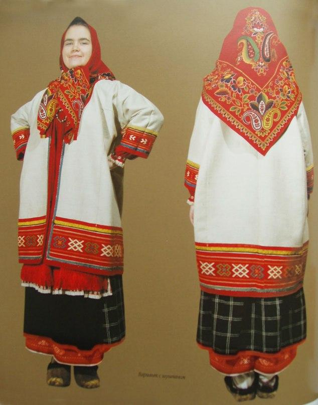 русский народный костюм женский рисунок