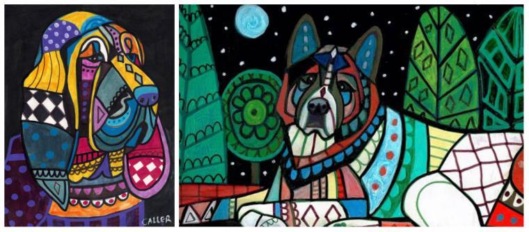 Психоделические собаки Heather Galler: невероятно яркие картины американской художницы, фото № 9