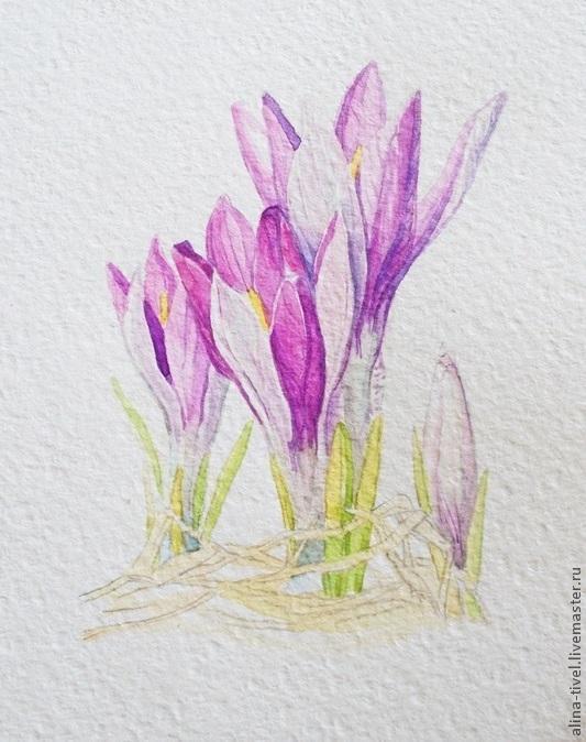 Рисование акварелью цветов для начинающих поэтапно