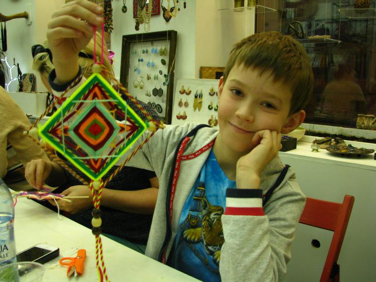 Мандала плетение для детей