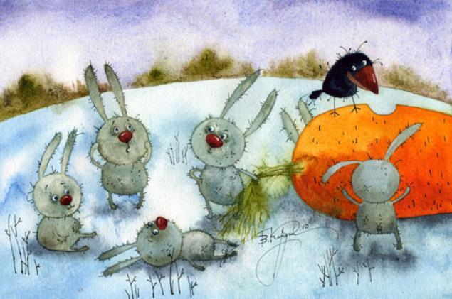 Веселые новогодние открытки виктории кирдий