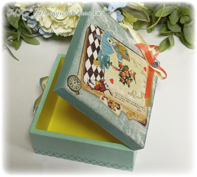 Приглашаю на МК по декупажу шкатулки с декоративными элементами ( работа с лаковыми распечатками), фото № 2