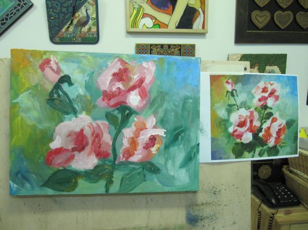 уроки рисования, цветы