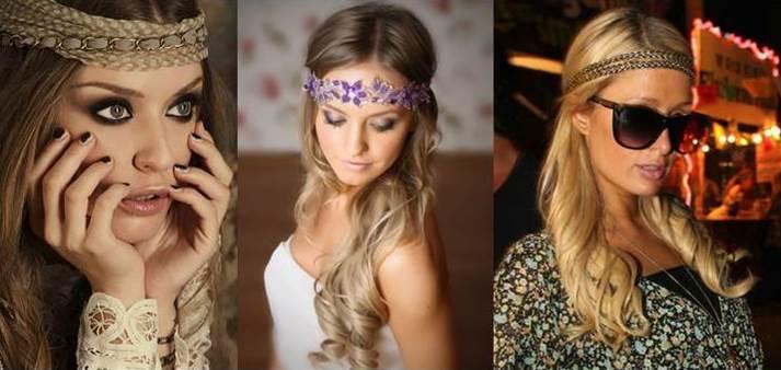 бохо стиль, стили причесок, украшения для волос