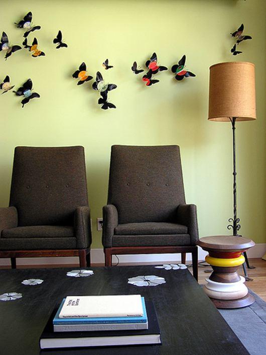 Бабочки как элемент дизайна интерьера, фото № 1