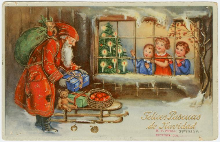 Поздравление, старый новый год винтажная открытка