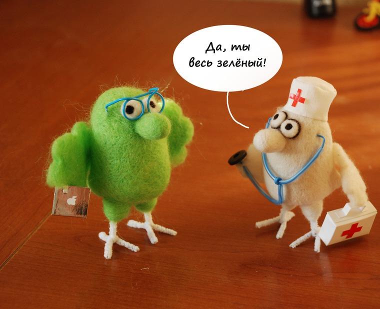 войлочная игрушка, марина воронцова, птичка программист