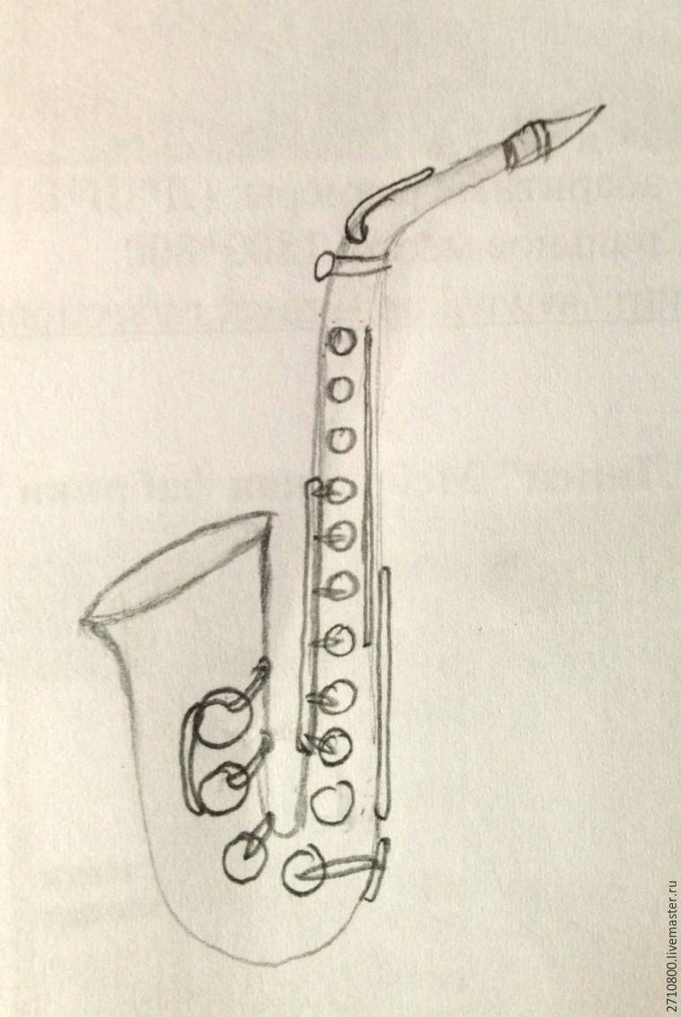 Как сделать своими руками саксофон