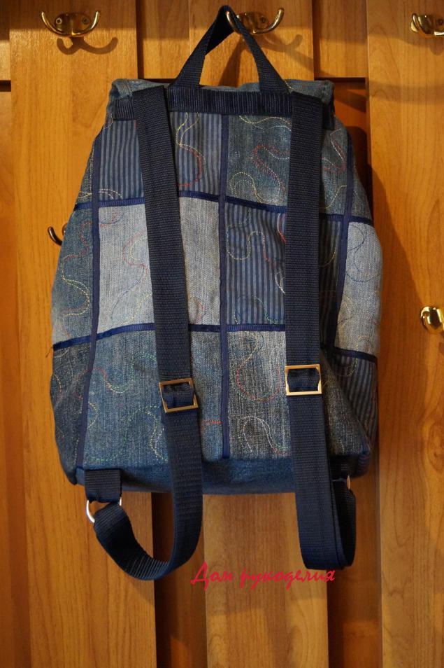 шьем рюкзаки из старых джинс
