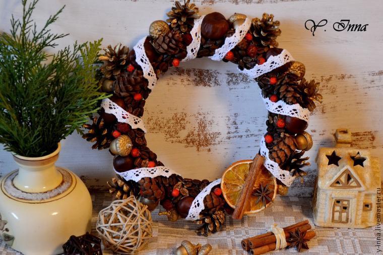рождественский венок, декор, для дома, рождество, декорирование