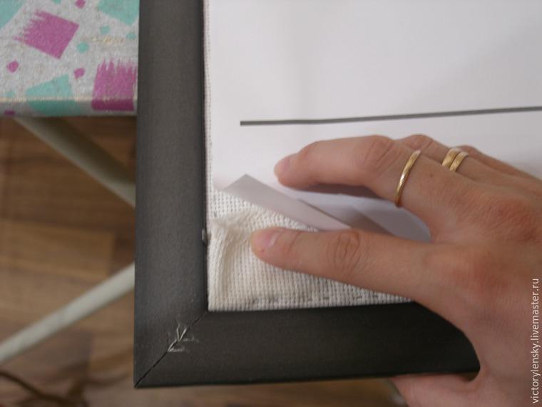 Оформление готовой вышивки в рамку, фото № 19