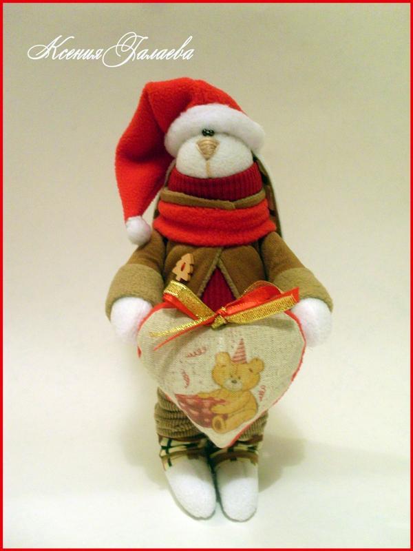 новый год 2014, подарок своими руками, санта клаус, тильда