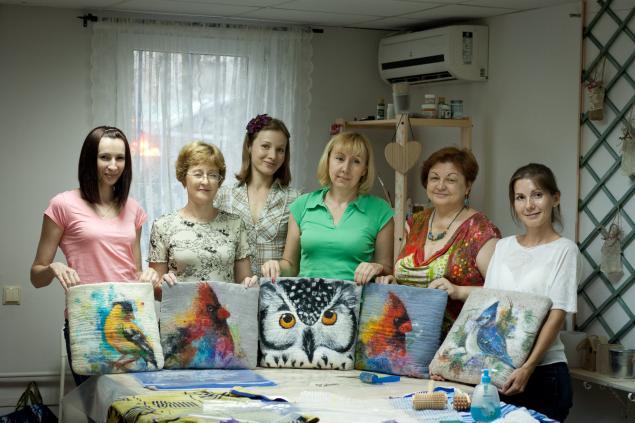 арт-студия веранда, валяние сумки мк, воскресенье краснодар, арт-студия краснодар, рисуем птицу, мк по валянию