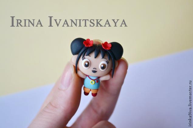 ни хао кай лан, из пластики, кулон из полимерной глины, кулон мастер-класс, фигурки из аниме, своими руками, кукольная миниатюра