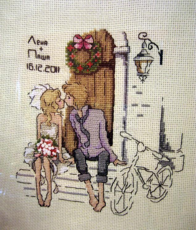 подарок на свадьбу, ручная вышивка