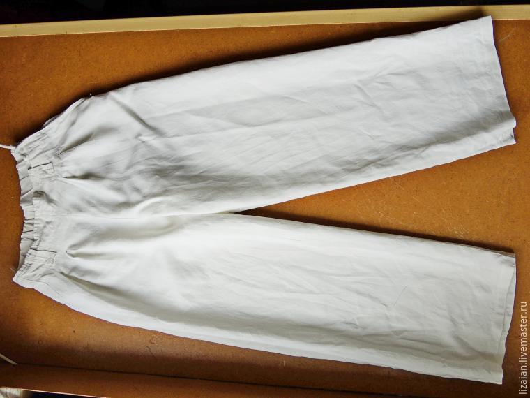 брюки из льна