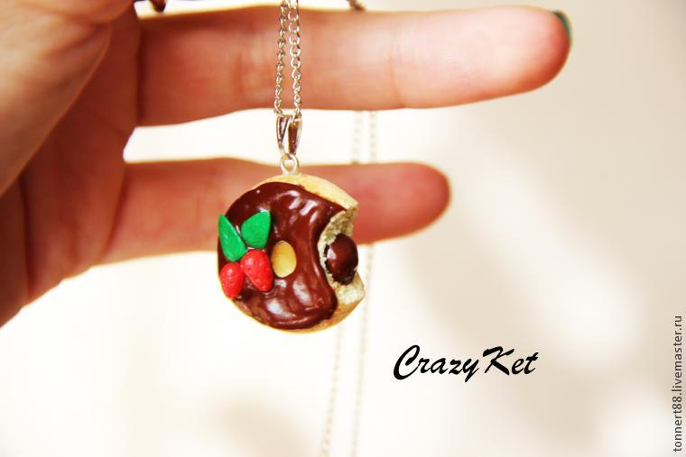 crazyket, пончик, мастер-класс, украшения, сладости, подарок, шоколад, красный