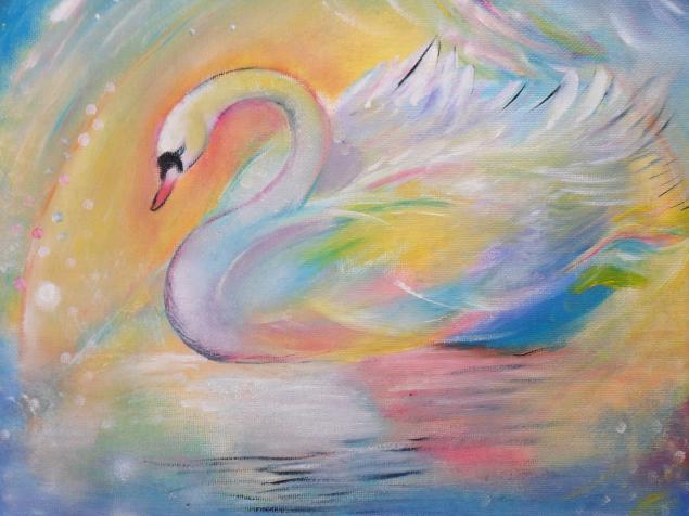 радуга, картина сказка, фэнтези, красочная картина, авторская картина, радость