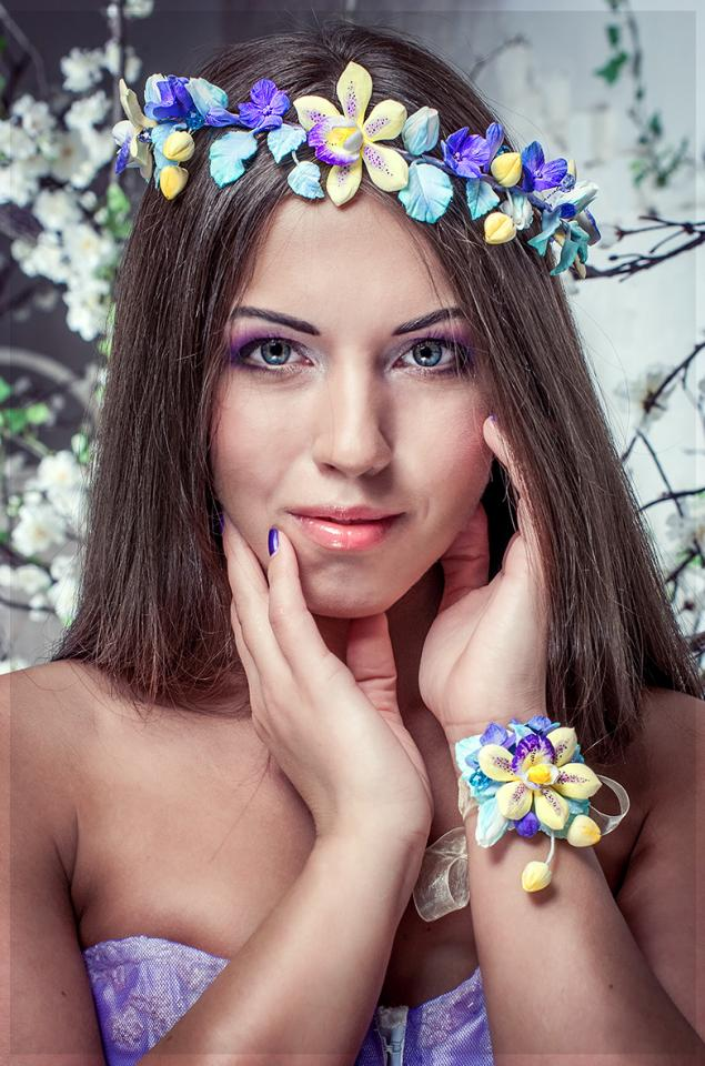 весна-лето 2014, цветы из глины