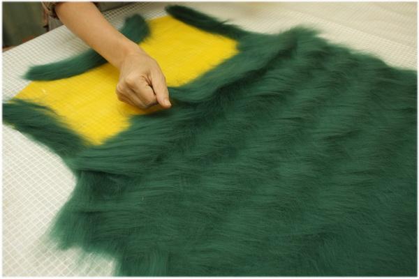 Раскладка шерсти для валяния