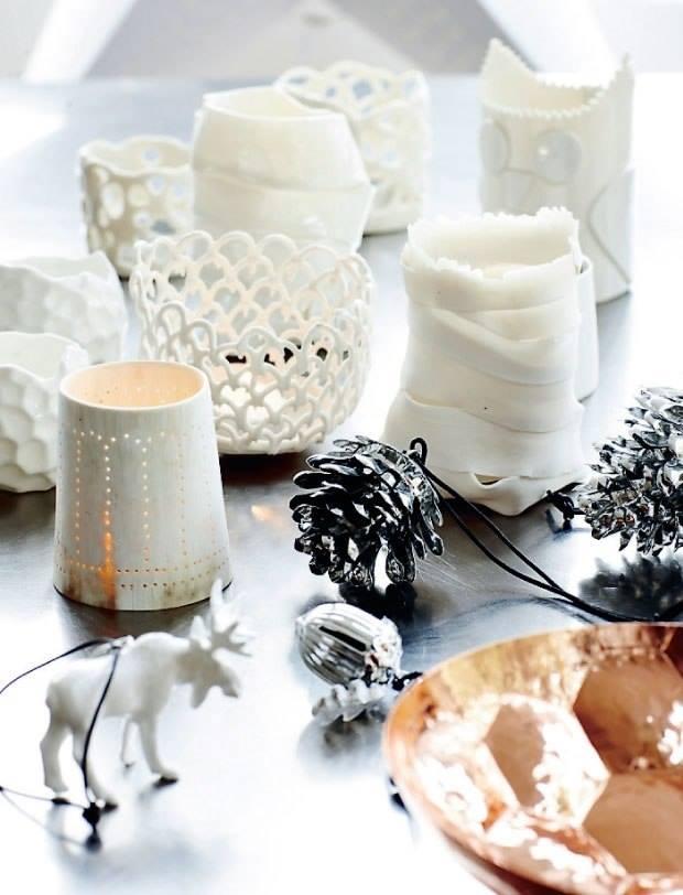 идеи декора нового года, идеи для вдохновения, рождественские свечи