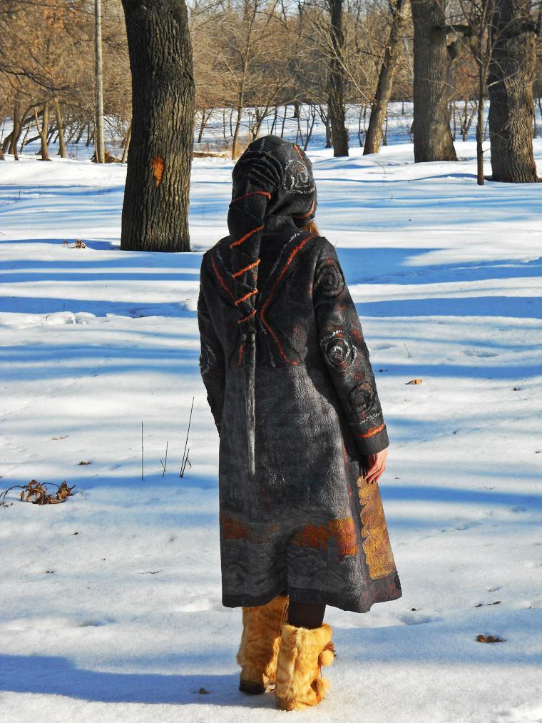 необычное пальто